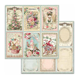 Stamperia - Double sided 12x12 Paper - Pink Christmas - Cards (SBB702)