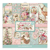 Stamperia - Double sided 12x12 Paper - Pink Christmas Cards - Restyled (SBBL73)