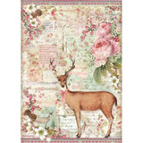 Stamperia - Rice Paper Sheet A4 - Pink Christmas (DFSA4474)