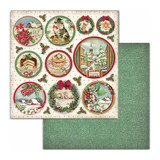 Stamperia - Double-Sided Cardstock 12x12- Classic Christmas - Rounds (SBB704)