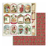 Stamperia - Double-Sided Cardstock 12x12- Classic Christmas - Tags (SBB706)