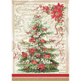 Stamperia - Rice Paper A4 - Classic Christmas - Christmas Tree (DFSA4476)