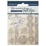 "Stamperia - Decorative Chips 5.5""X5.5"" - Winter (SCB5.5 - 18)"