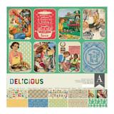 """Authentique - Collection Kit 12""""X12"""" - Delicious ( DLC-008)"""