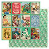 "Authentique - Double Sided Cardstock 12""X12"" - Delicious - Images & Sentiments (DLC-12 005)"