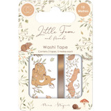 Craft Consortium - Washi Tape 3/Pkg- Little Fawn & Friends (CWTPE001)