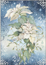 Stamperia - Decoupage Rice Paper A3 11.69x16.53 - Winter Tales - Christmas Poinsettias (DFSA3070)