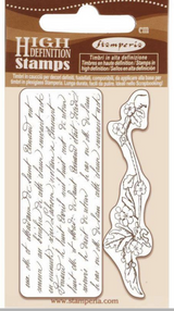 """Stamperia - Cling Rubber Stamp 2.75""""X4.25"""" - Writings & Branch (WTKCC184)"""