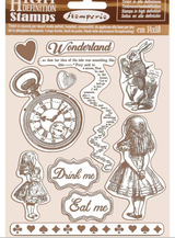 "Stamperia - Cling Rubber Stamp 5.51""X7.08"" - Alice (WTKCC185)"