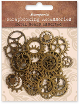 Stamperia - Assorted Metal Gears - Small/Medium - Steampunk Gears (SBA406)