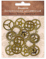 Stamperia - Assorted Metal Gears - Large - Steampunk Gears (SBA407)