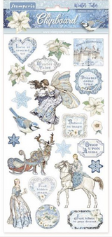Product - Stamperia - Adhesive Chipboard 6x12 - Winter Tales (DFLCB09)