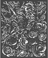 """Stamperia - Stencil 7.87"""" X 9.84"""" - Ice & Shells (KSTD058)"""