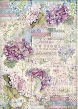 Stamperia - Decoupage Rice Paper A3 11.69x16.53 - Hortensia (DFSA3061)