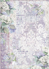 Stamperia - Decoupage Rice Paper A3 11.69x16.53- Hortensia Wallpaper (DFSA3062)