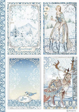 Stamperia - Decoupage Rice Paper A4 8.26x11.69 - Winter Tales - Cards (DFSA4490)