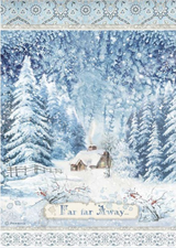 Stamperia - Decoupage Rice Paper A4 8.26x11.69 - Winter Tales - Far Far Away (DFSA4491)