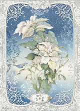 Stamperia - Decoupage Rice Paper A4 8.26x11.69 - Winter Tales - Poinsettia White (DFSA4493)