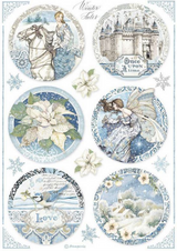 Stamperia - Decoupage Rice Paper A4 8.26x11.69 - Winter Tales - Rounds Castle (DFSA4496)