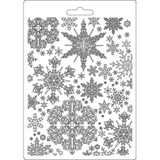 "Stamperia - Soft Maxi Mould A5 6""x 8.5"" - Winter Tales - Snowflakes (K3PTA556 )"