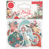 Craft Consortium - Laser-Cut Wooden Shapes 10/Pkg - Noel (CWDNS009)