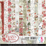 Ciao Bella - Double-Sided Paper Pad 6x6 24/Pkg - Frozen Roses (CBQ039)