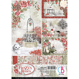 Ciao Bella - Double-Sided Creative Pack A4 9/Pkg - Frozen Roses (CBCL039)