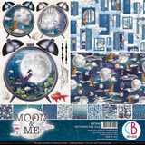 "Ciao Bella - Double-Sided Patterns Pad 12""X12"" 8/Pkg - Moon & Me (CBT040)"