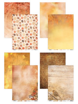 Studio Light - Double-Sided Cardstock Pack A4 8/Pkg - Wonderful Autumn (SWA/A4 Pack)