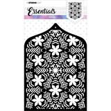 Studio Light - Essentials Stencil - MASKSL50 Snowflakes & Flowers (MASKSL50)