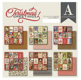 "Authentique - Double-Sided Cardstock Pad 6""X6"" 24/Pkg - Christmas Greetings (CMG007)"