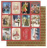 "Authentique - Double-Sided Cardstock 12""X12"" - Christmas Greetings - #3 Small Town (CMG12 003)"