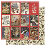 "Authentique - Double-Sided Cardstock 12""X12"" - Christmas Greetings - #4 Nativity Scenes (CMG12 004)"