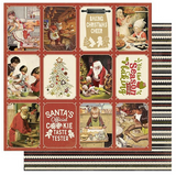 "Authentique - Double-Sided Cardstock 12""X12"" - Christmas Greetings - #5 Cookies & Baking (CMG12 005)"