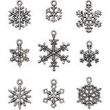 Tim Holtz - Idea-Ology - Metal Adornments 9/Pkg - Snowflakes (TH94007)