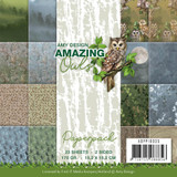 "Find It Trading - Amy Design - Double Sided Paper Pack 6""X6"" 23/Pkg - Amazing Owls (APP10035)"