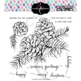 Colorado Craft Company - Clear Stamps 6x6 - Big & Bold - Pinecone & Branch (C3BB264)