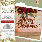 Crafter's Companion - Metal Die - Nature's Garden - Vintage Christmas - Merry Christmas (NMDMCHR)