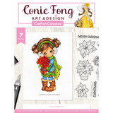 Crafter's Companion - Clear Stamps By Conie Fong - Holly Poinsettia (TPHOLPO)