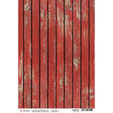Ciao Bella - Northern Lights Collection - Red Wood - Rice Paper Sheet (CBRP132)