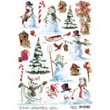Ciao Bella - Northern Lights Collection - Snowmen - Rice Paper Sheet (CBRP131)