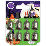 Craft Consortium - Metal Charms 8/Pkg - Happy Haunting - Graves (CCMCHR16)