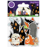 Craft Consortium - Laser-Cut Wooden Shapes 10/Pkg - Happy Haunting (CWDNS011)