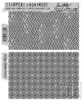 Stapers Anonymous - Tim Holtz - Cling Stamp Set - ZigZag and Diamonds