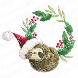 Stamping Bella - Cling Stamps - Sloth Wreath (EB1001)