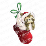 Stamping Bella - Cling Stamps - Sloth In A Stocking (EB1002)