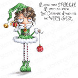 Stamping Bella - Cling Stamps - Oddball Girl Elf (EB1004)