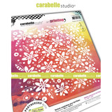 Carabelle Studio - Art Printing Square Rubber Texture Plate - Florals and Feathers (APCA0052)