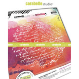 Carabelle Studio - Art Printing Round Rubber Texture Plate - Correspondences (APRO0033)