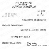 Stamping Bella - Cling Stamps - Merry Slothmas Sentiment (EB975)